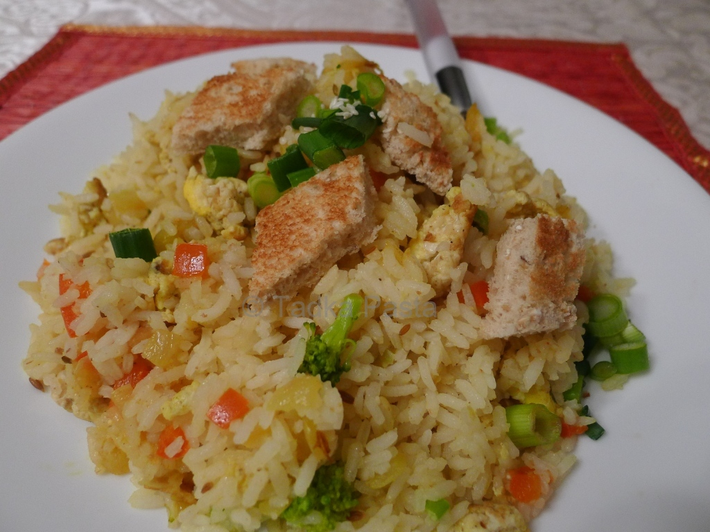 Egg Fried Rice, No Soy | Tadka Pasta