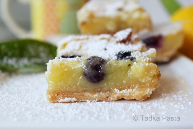 Berry Lemony Wonder Bars | Tadka Pasta