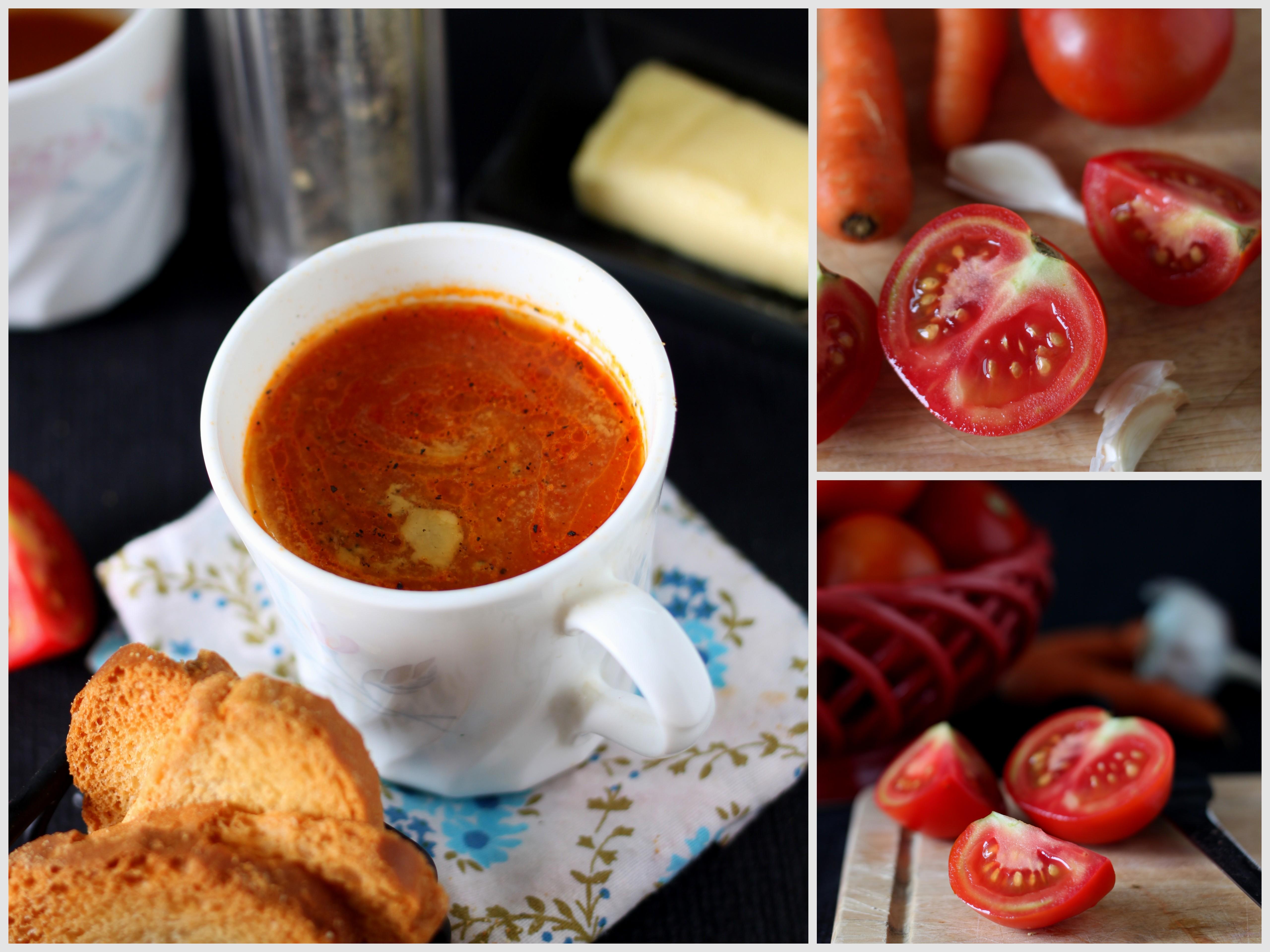 Tomato Soup India Indian-style Hot Tomato Soup