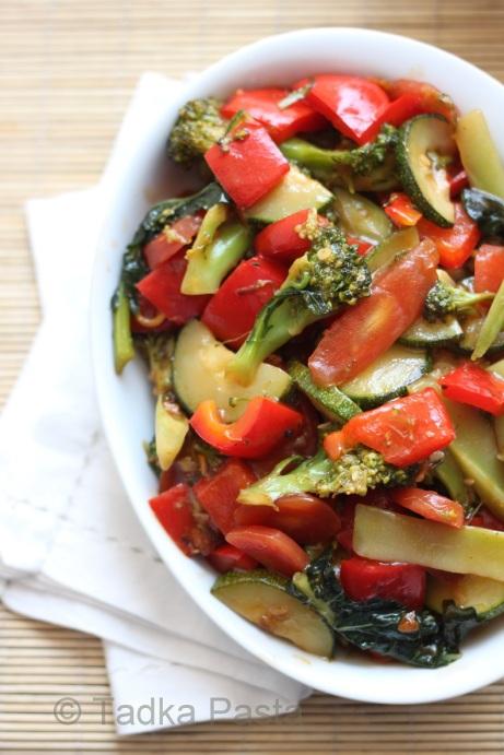 Chili Garlic Veggie Medley
