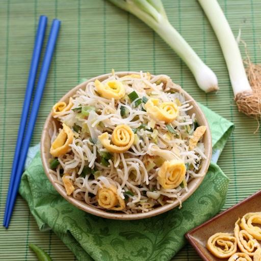 Swirly Leek Noodles