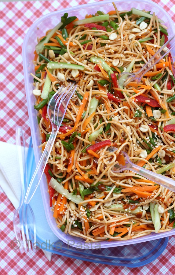 Cool off with Saucy Sesame Noodles | Tadka Pasta