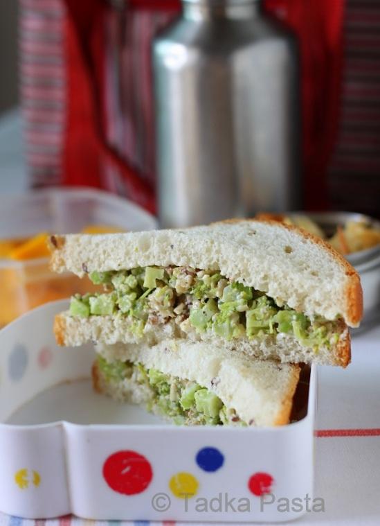 Broccoli-cheese Sandwiches