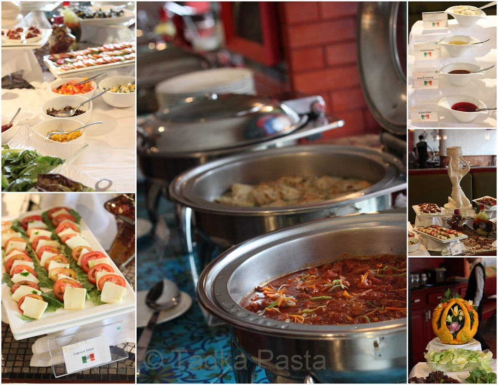 Restaurant review buffet at spaghetti kitchen tadka pasta for Q kitchen pasta buffet