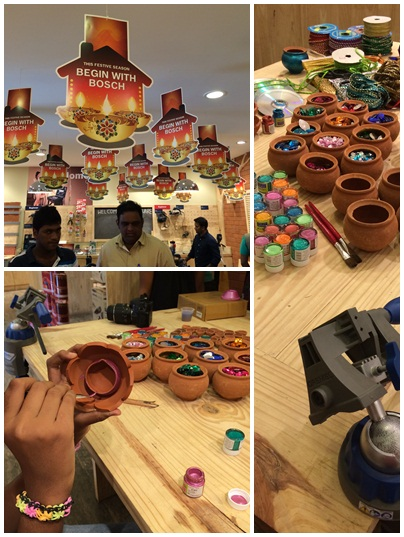 Diwali Diya Workshop at Bosch DIY Store