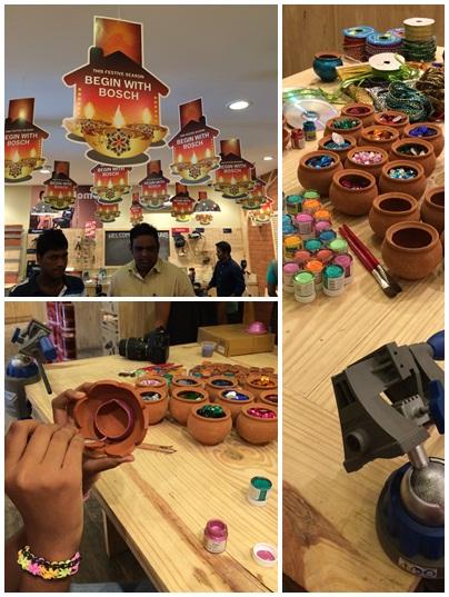 Diwali Diya Workshop at Bosch DIY Store
