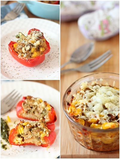 Bread Pudding stuffed Peppers