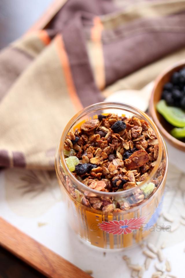 fruit nut honey granola